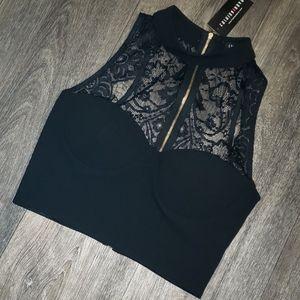 Fashion Nova Tops - Black Lace Bustier Top